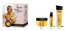 Botanic gold keratin set - home kit (shampoo+mask+kertin gold)