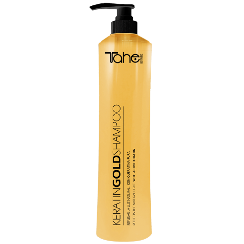 TAHE BOTANIC GOLD Shampoo with active keratine for coloured and damaged hair (800 ml)