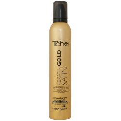 FIXING MOUSSE SATIN KERATIN GOLD for dry or damaged hair (300 ml) fix.5