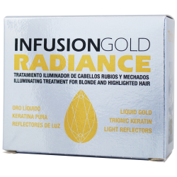 TAHE KERATIN INFUSION A+B GOLD RADIANCE for blond and highlighted hair (2x10 ml)