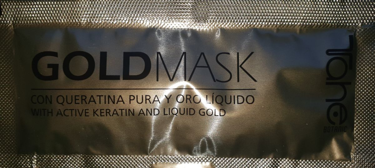Tester TAHE BOTANIC GOLD mask for dried and damaged hair (10 ml)