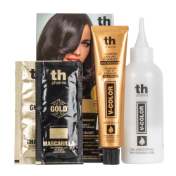 Hair dye V-color no. 6.13 (dark ash golden blond)- home kit+shampoo and mask free of charge TH Pharma