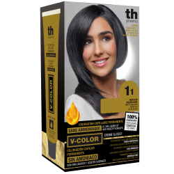 Hair dye V-color no. 1.1 (blue black)- home kit+shampoo and mask free of charge