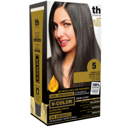 Hair dye V-color no. 5 (light brown)- home kit+shampoo and mask free of charge