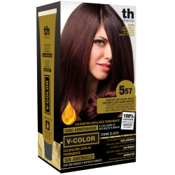 Hair dye V-color no. 5.57 (light mahagon violet brown)- home kit+shampoo and mask free of charge