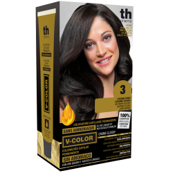 Hair dye V-color no. 3 (dark brown)- home kit+shampoo and mask free of charge