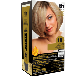 Hair dye V-color no.10 (platinum blonde)- home kit+shampoo and mask free of charge
