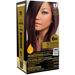 Hair dye V-color no.6.65 (dark mahagon red blone)- home kit+shampoo and mask free of charge