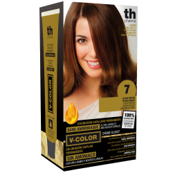 Hair dye V-color no.7 (medium blond)- home kit+shampoo and mask free of charge