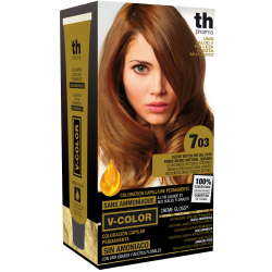Hair dye V-color no.7.03 (medium golden natural blonde)- home kit+shampoo and mask free of charge