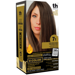 Hair dye V-color no.7.1 (medium ash blonde)- home kit+shampoo and mask free of charge