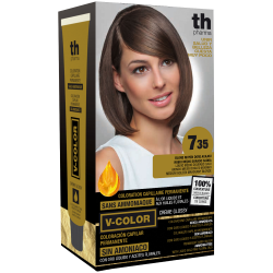 Hair dye V-color no.7.35 (medium golden mahagon blond)- home kit+shampoo and mask free of charge