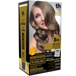 Hair dye V-color no.8.32 (light beige blond)- home kit+shampoo and mask free of charge