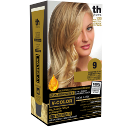 Hair dye V-color no.9 (very light blonde)- home kit+shampoo and mask free of charge