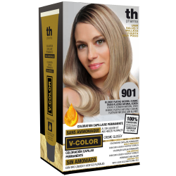 Hair dye V-color no.901 (super platinum ash)- home kit+shampoo and mask free of charge