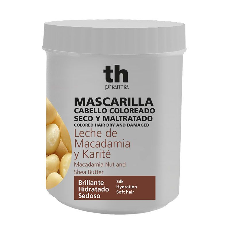 Hair mask with macadamia nut and shea butter (700 ml) - smells beautiful TH Pharma